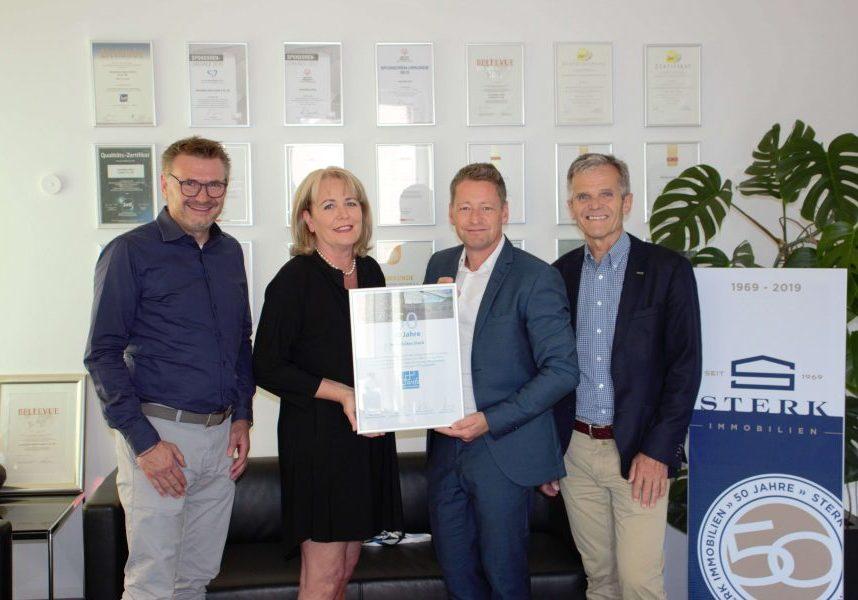 Das WIFO gratuliert uns zu 50 Jahren Immobilienmakler Sterk