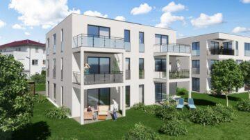 Weingarten – Wohnen am Stadtgarten  – 3,5-Zimmer-Neubauwohnung mit eigenem Garten, 88250 Weingarten, Erdgeschosswohnung